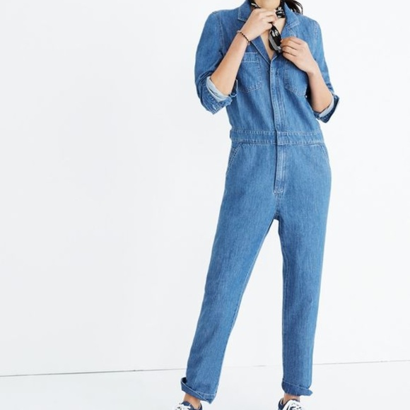4edb1040013 Madewell Denim Coverall Jumpsuit (Zip-front)